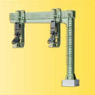 Pont à 2 signaux lumineux-HO 1/87-VIESSMANN 4750