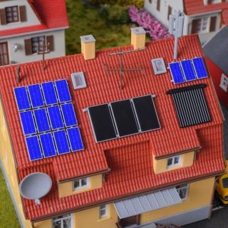 Set de panneaux solaire photovoltaïques-HO 1/87-KIBRI 38602