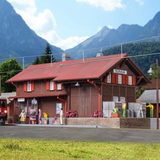 Gare de montagne éclairée-HO 1/87-KIBRI 39519