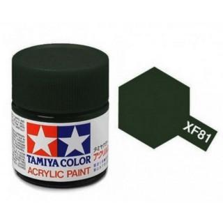 Dark Green 2 (RAF) mat pot de 10ml-TAMIYA XF81