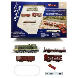 Coffret de démarrage digital Z21 BB63000 + 3 wagons SNCF-HO ROCO 51300