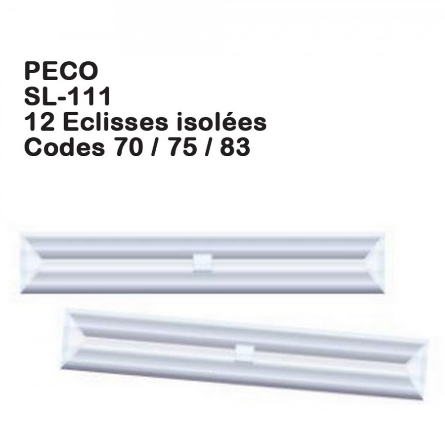 12 éclisses isolées Streamline code 70-75-83-HO 1/87-PECO SL-111