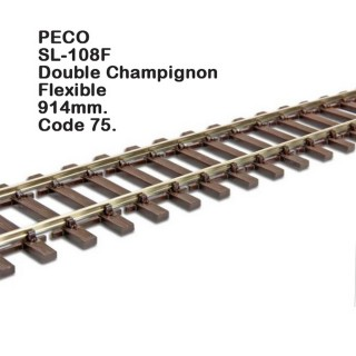 Rail Streamline rail flexible 914mm code 75-HO-1/87-PECO SL-108F