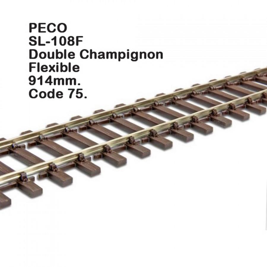 Rail Streamline rail flexible 914mm code 75-HO-1/87-PECO SL-108F