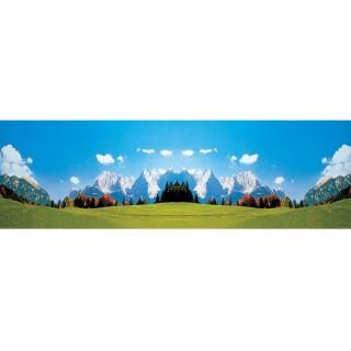 Décor de fond Montagne et prairie-HO 1/87 et N-1/160-FALLER 180513