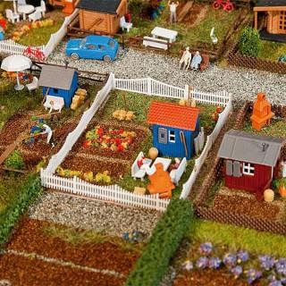 3 petits jardins avec cabanons-N 1/160-FALLER 272551