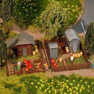 2 jardins avec cabanons-N 1/160-FALLER 272552