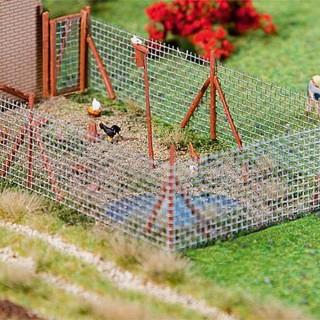 Clôture en treillis avec poteaux-HO 1/87-FALLER 180414