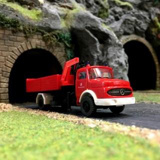 Camion pompiers remorque Mercedes-HO 1/87-PREISER 35014 DEP17-620