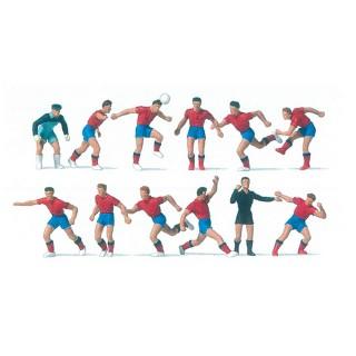 "Equipe de Foot ""rouge"" + arbitre-HO 1/87-PREISER 10760"