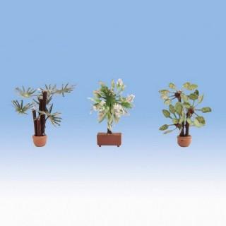 3 plantes en pots-HO 1/87-NOCH 14023