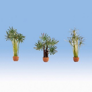 "3 plantes ""palmiers"" en pots-HO 1/87-NOCH 14024"