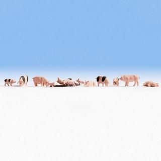 12 cochons + boue-HO 1/87-NOCH 15712