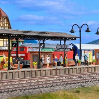 """Quai type """"gare de Baden""""-HO-1/87-VOLLMER 43562"""