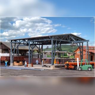 "Hangar ouvert en structures ""métalliques""-HO 1/87-VOLLMER 45616"