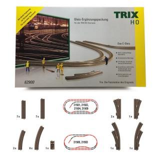 Coffret de rails complémentaires C-HO 1/87-TRIX 62900