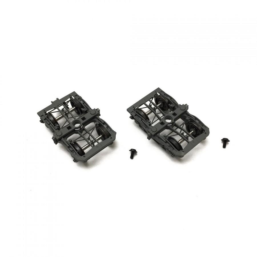 2 bogies Y24  gris ardoise  Sncf -HO-1/87-REE XB-105-DF-01