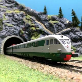 Super Rapido ETR 220 4 éléments Milan / Rome / Naples Ep IV-HO 1/87-LEMODELS 15232