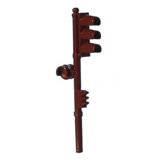 Feu tricolore simple marron-Vert-HO 1/87-SAI 1011V