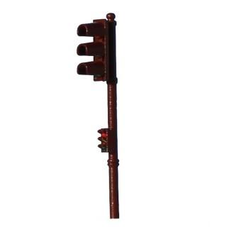 Feu tricolore simple marron-Rouge-HO 1/87-SAI 1014R