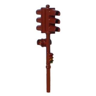 Feu tricolore double marron-Rouge-HO 1/87-SAI 1016R