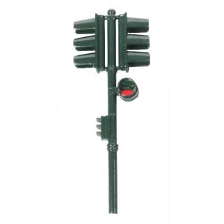 Feu tricolore double vert-Vert-HO 1/87-SAI 1018V