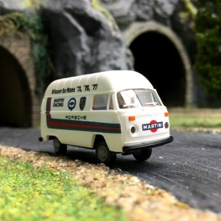 "VW Combi Bay Window rehaussé ""Martini Racing""-HO 1/87-BREKINA 33815"