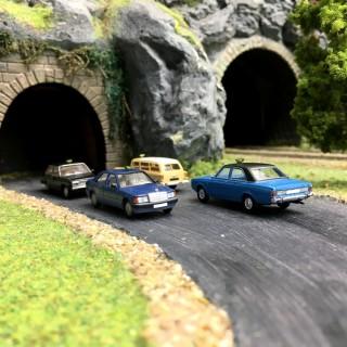 Set de 4 Taxis N°1-HO 1/87-BREKINA 90466
