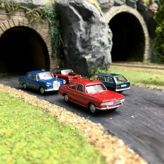 Set de 4 Taxis N°2-HO 1/87-BREKINA 90467