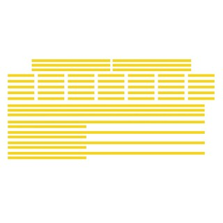 Marquage Jaune lignes axiales-HO-1/87-SAI 1030