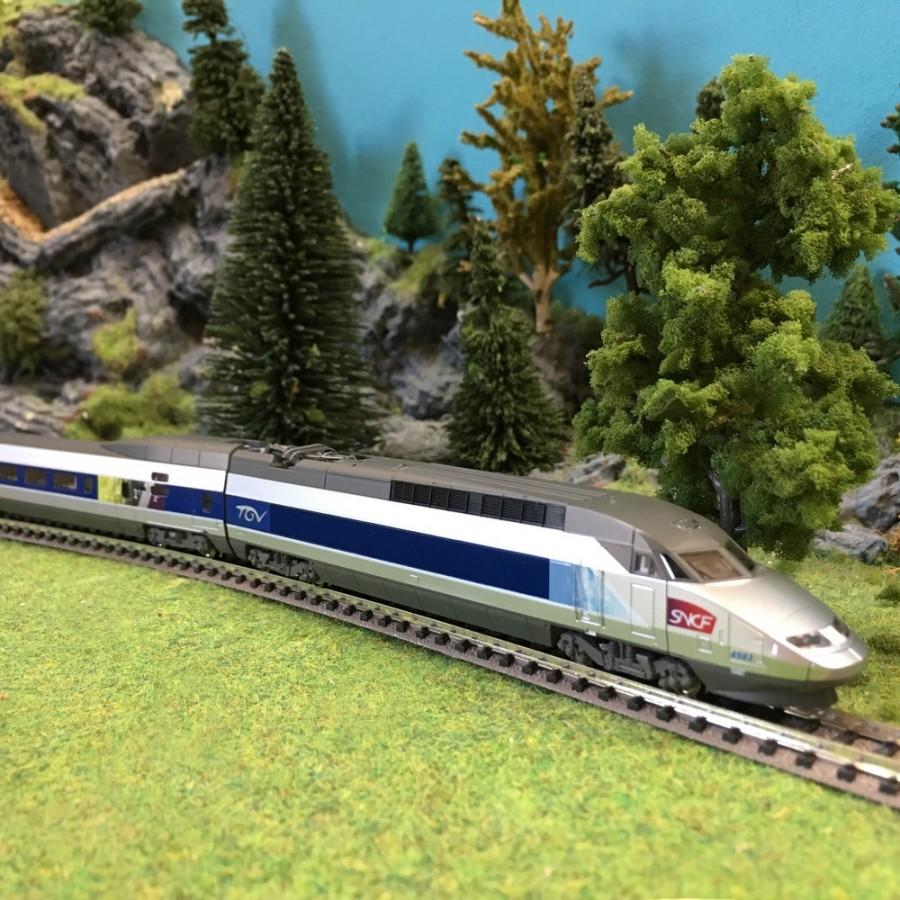"""TGV réseau """"Lacroix"""" 10 éléments SNCF-N-1/160-KATO 10924"""