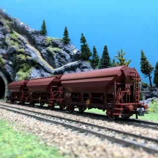 Coffret de 3 wagons trémie TDS Ep IV SNCF-HO-1/87-ROCO 76178