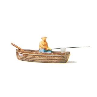 Pêcheur dans sa barque-HO 1/87-PREISER 28052