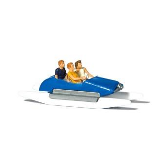 Famille en Pédalo Bleu-HO 1/87-PREISER 10682