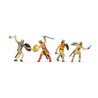 4 chevaliers au combat-HO 1/87-PREISER 24762