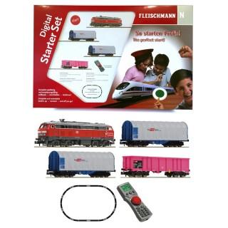 Coffret digital BR 218+ wagons marchandises DB-N 1/160-FLEISCHMANN 931889