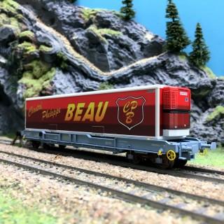 "Wagon Kangourou K1""BEAU"" SNCF Ep V-HO 1/87-LSMODELS 30311"
