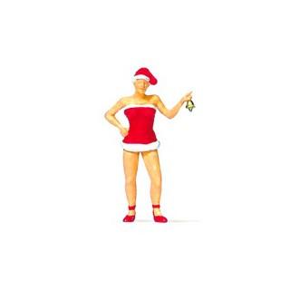 Mère Noël et sa petite clochette-HO 1/87-PREISER 29088