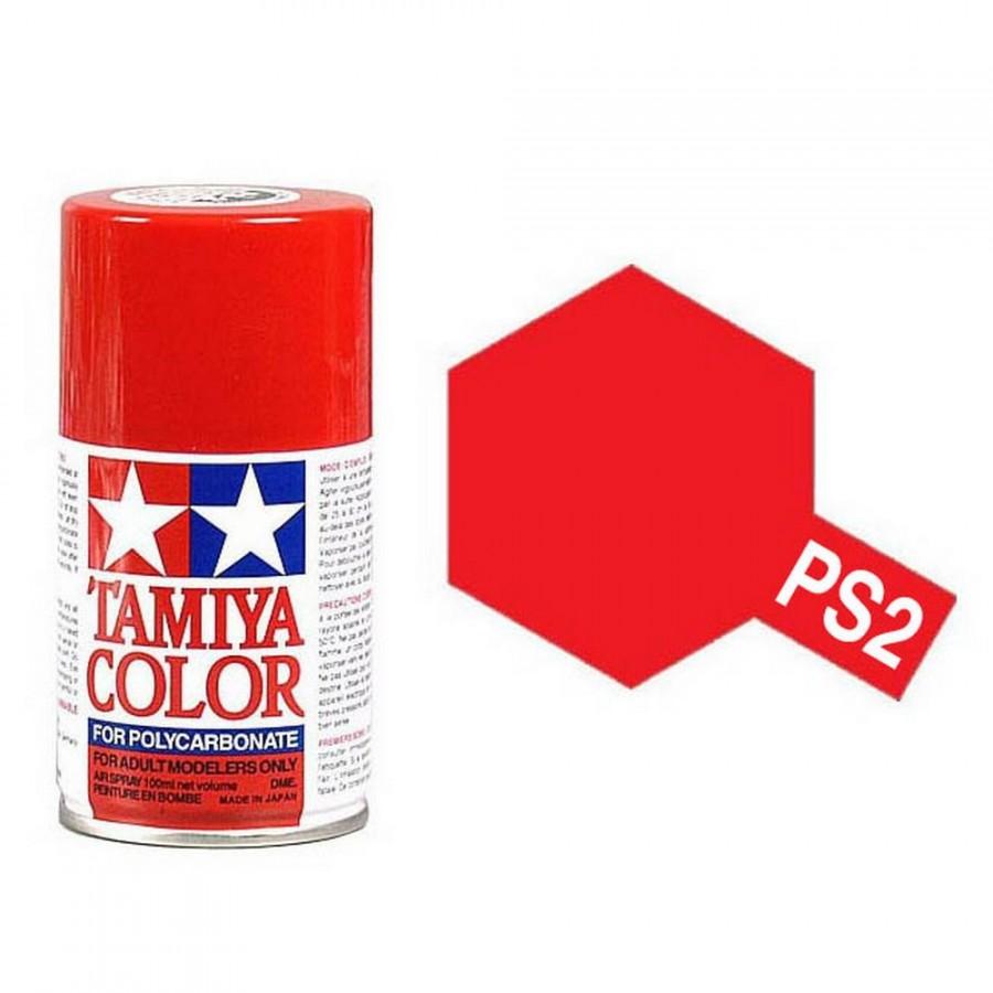 Rouge Polycarbonate Spray de 100ml-TAMIYA PS2