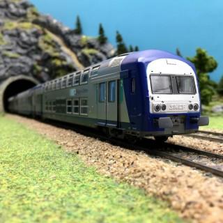 Coffret 3 éléments TER Centre SNCF-HO 1/87-VITRAINS 1104