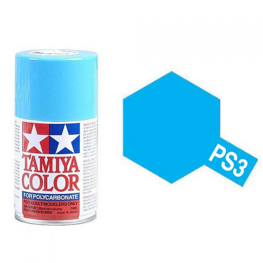 Bleu Clair Polycarbonate Spray de 100ml-TAMIYA PS3