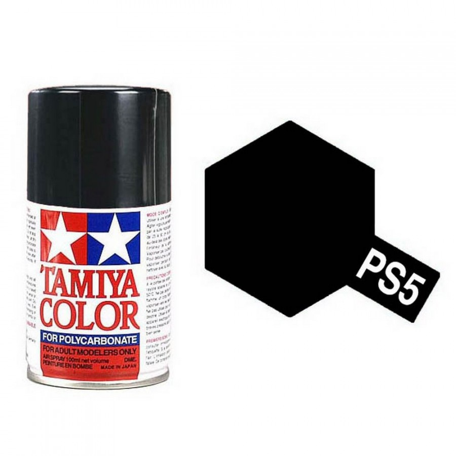 Noir Polycarbonate Spray de 100ml-TAMIYA PS5