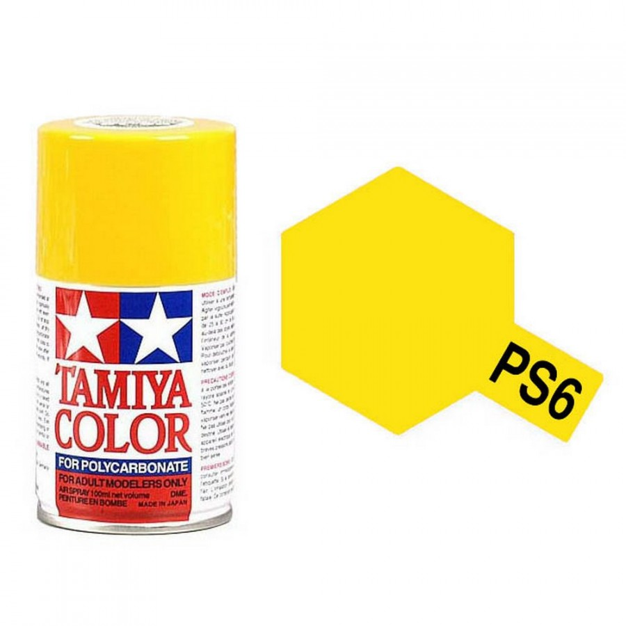 Jaune Polycarbonate Spray de 100ml-TAMIYA PS6