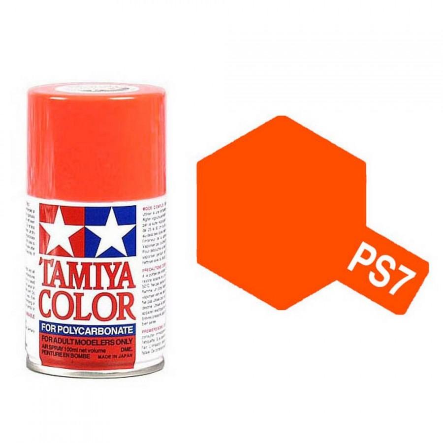 Orange Polycarbonate Spray de 100ml-TAMIYA PS7