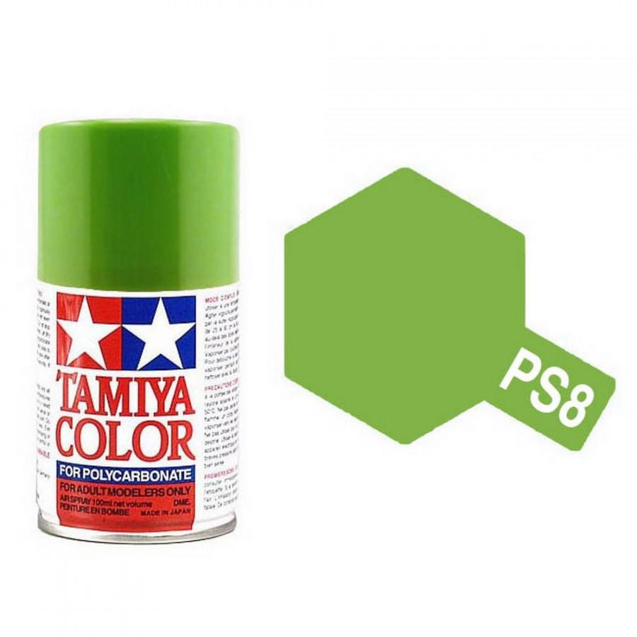Vert Clair Polycarbonate Spray de 100ml-TAMIYA PS8