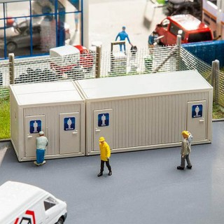 2 Containers-WC-HO 1/87-FALLER 130131