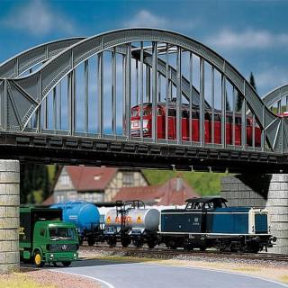 Pont à Arches type métallique-HO 1/87-FALLER 120536