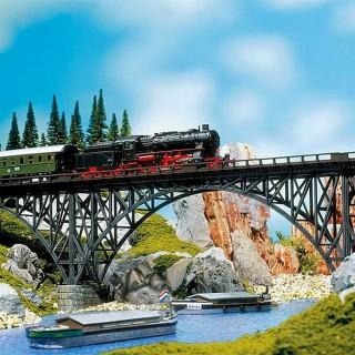 Pont porteur type métallique-HO 1/87-FALLER 120541