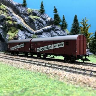 Wagon double Stückgut Schnellverkehr DB Ep III-HO 1/87-FLEISCHMANN 530603