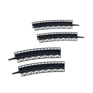 4 éléments de rampe - Courbes-Z 1/220-FALLER 282905